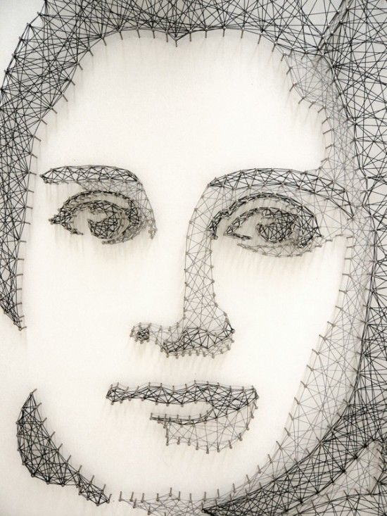Nail and String Portrait Art by pamela campagna and Thomas Scheiderbauer