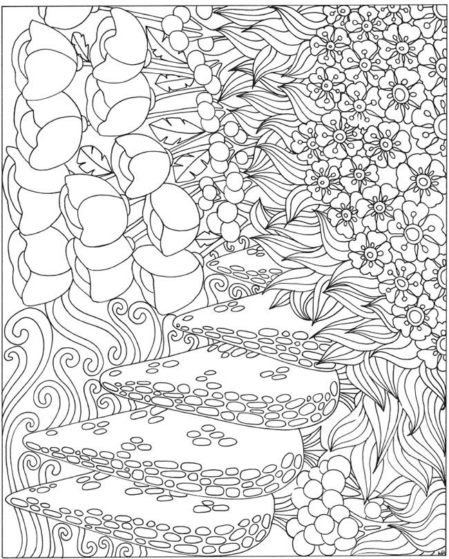 ESCAPES Joyful Gardens Coloring Book Welcome To Dover Publications