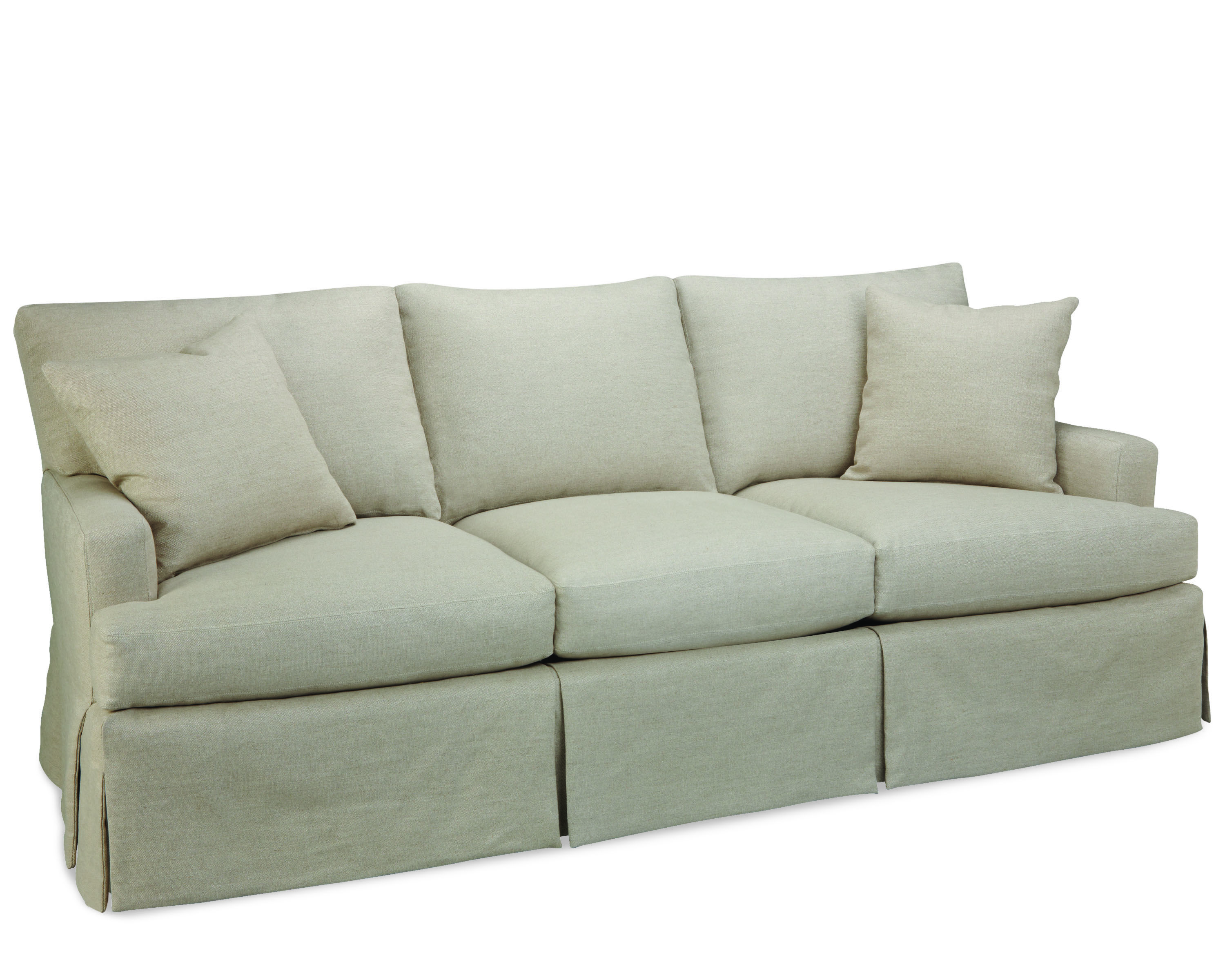 "Lee Industries sofa with turned leg tight back 3278 03 87"" long x"