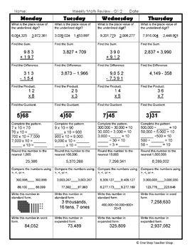 Help with math homework 5th grade