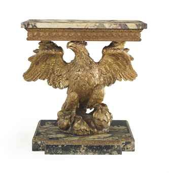 Mid 18th Century Later Plinth A George Ii Giltwood And Faux Marble Eagle Form Side Table Faux Marble Gilded Furniture Side Table