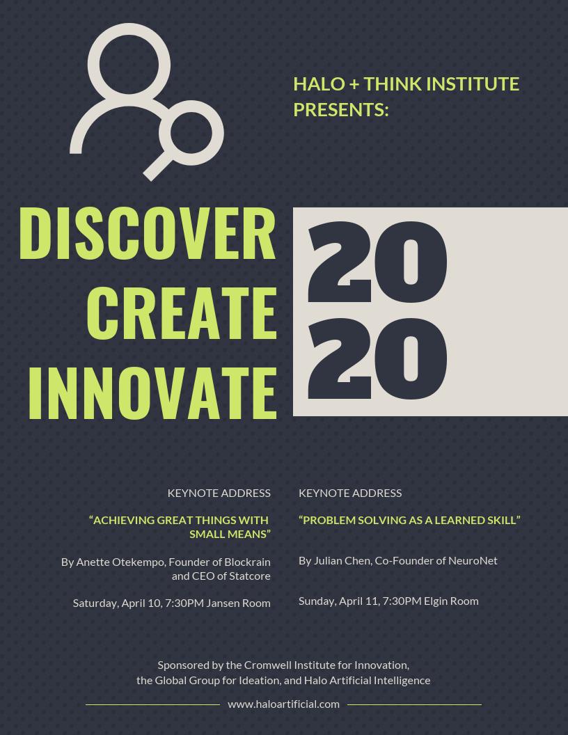 Dark Innovation Conference Event Poster Template Event Poster Template Event Poster Event Poster Design