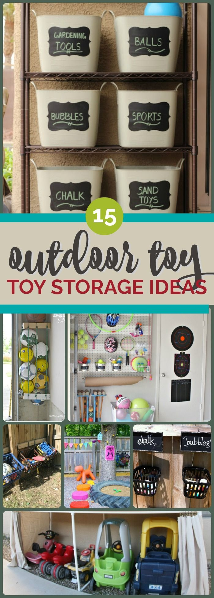 15 Outdoor Toy Storage Ideas - Spaceships and Laser Beams