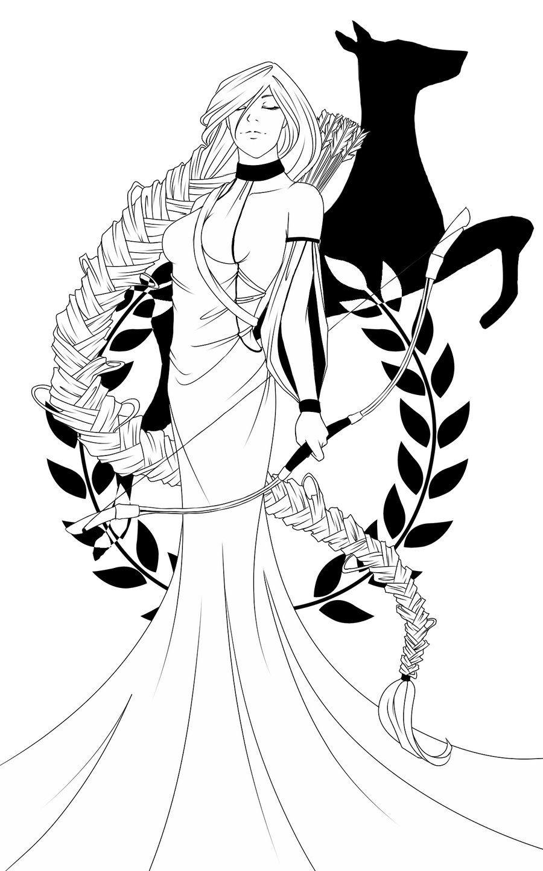 Artémis en 2019 | Artémis déesse, Dessin et Mythologie