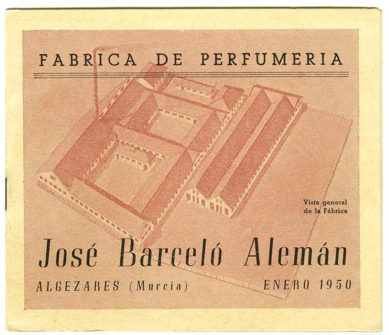 Visor Archivo General Región de Murcia. FOT_POS,06/111 / Folleto publicitario de la fábrica de perfumería de José Barceló Alemán.