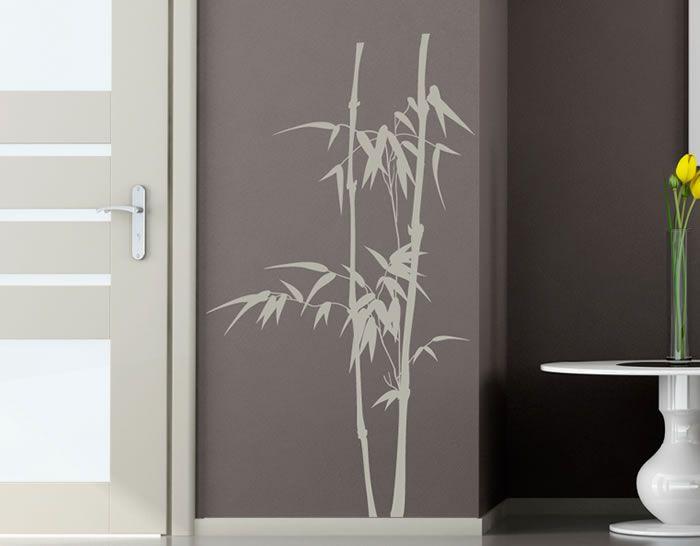 vinilos florales y de naturaleza cañas de bambú, una original - decoracion con bambu