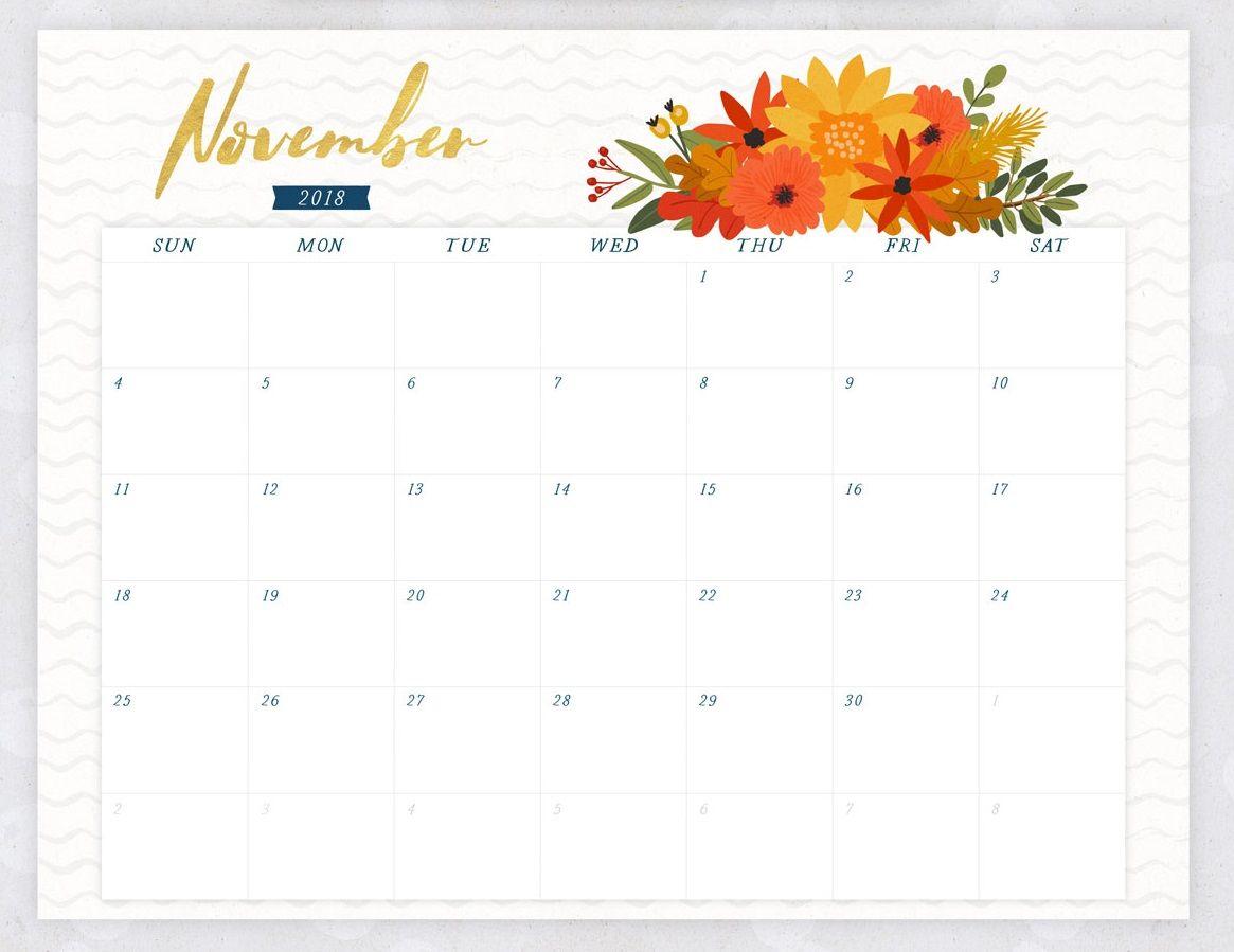 november 2018 flower calendar