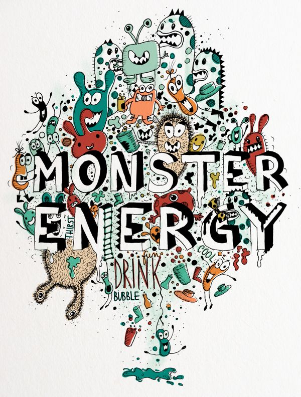 Monster energy by Madalina Tantareanu, via Behance