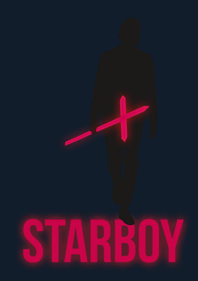 poster of weeknds new song starboy