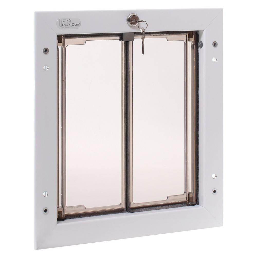 Plexidor Performance Pet Doors 9 In X 12 In Door Mount White Medium Dog Door Pet Door White Doors Home Depot