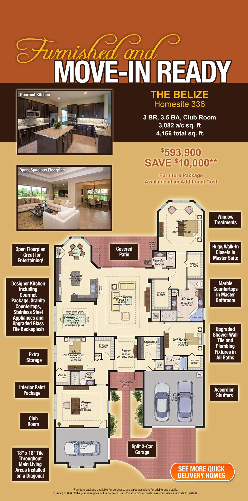 The Belize Model Home At Canyon Trails New Homes In Boynton Beach Florida House Plans Floor Plans Beach House Plans