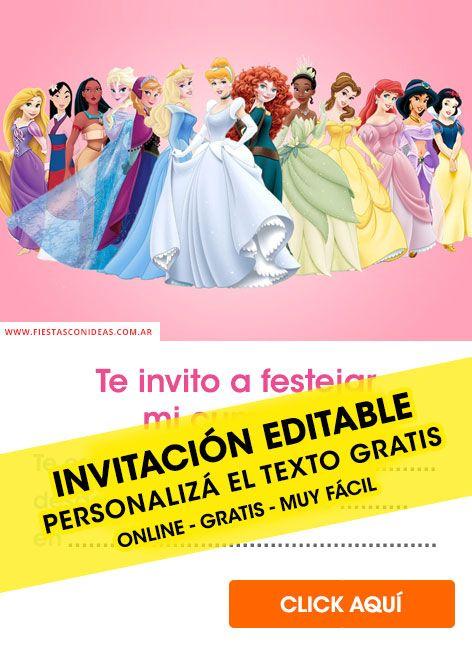 Invitaciones De Cenicienta Para Editar Gratis