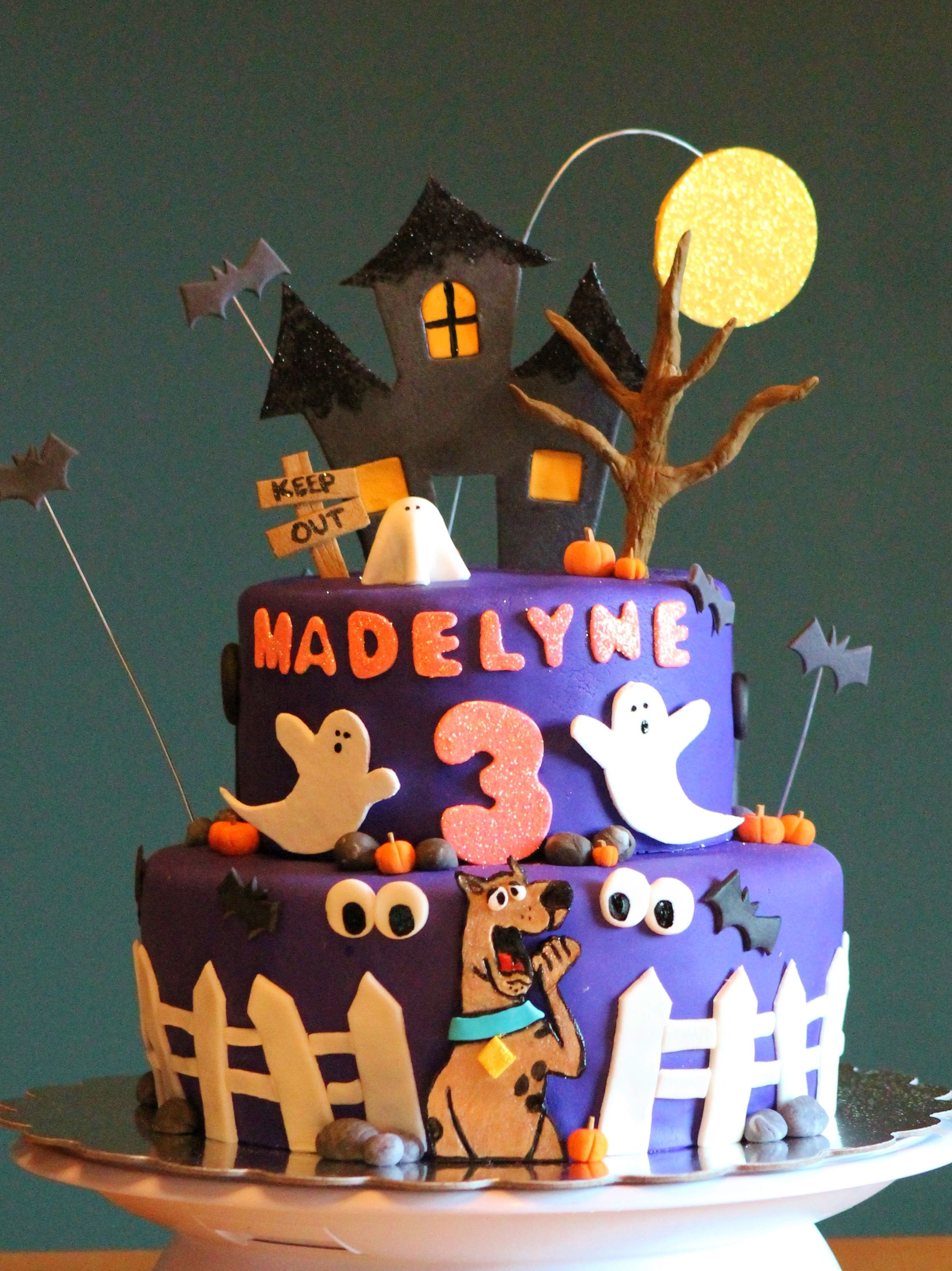 Purple Spooky Scooby Doo Birthday Cake Madisons birthday party