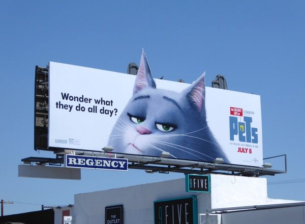 The Secret Life Of Pets Movie Billboards Advertising For Movies Tv Fashion Drinks Technology And More New Animation Movies Pets Movie Secret Life Of Pets