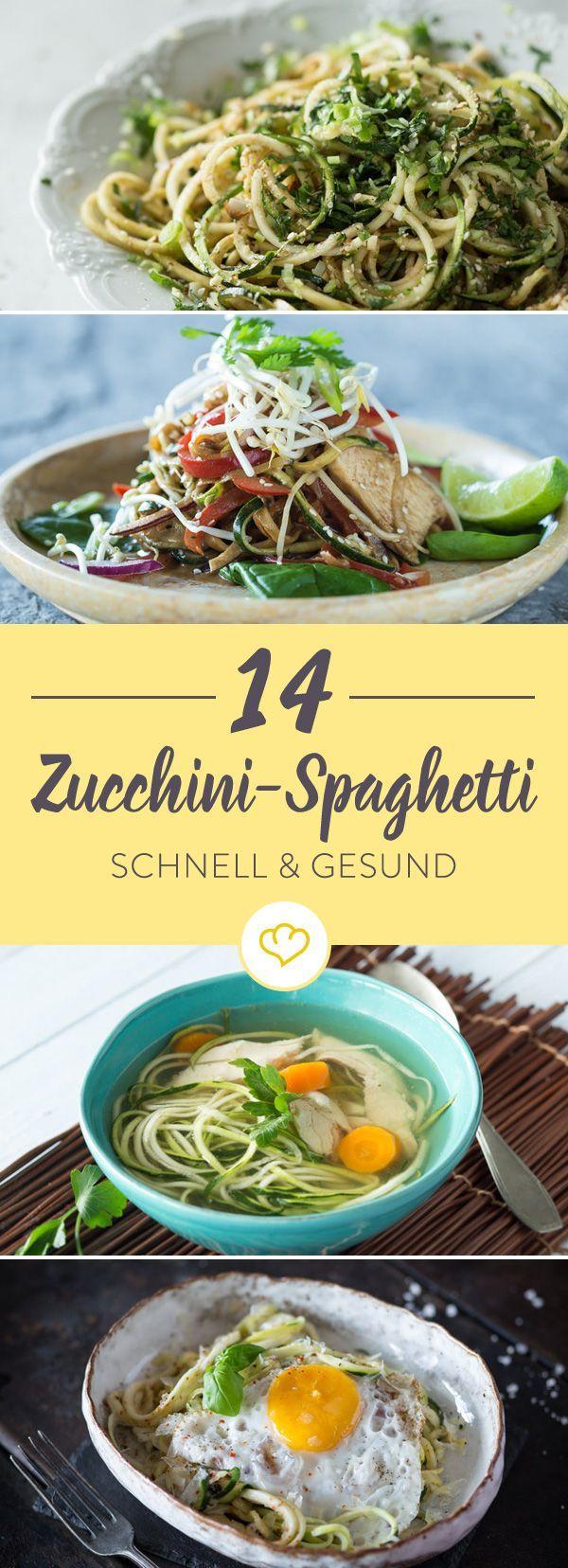 14 schnelle und gesunde Zucchini-Spaghetti-Rezepte   - Hauptgerichte -