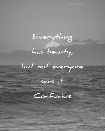 beautiful quotes everything has beauty but not everyone sees it confucius wisdom quotes Beauty 400 Beautiful Quotes That Will Make Your Day Magical