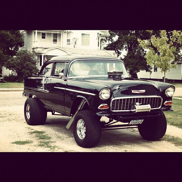 55 Chevy Gasser Muscle Cars Cool Cars Fast Cars
