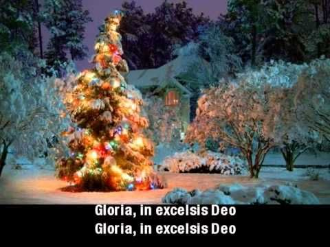 Angels We Have Heard On High With Lyrics Outdoor Christmas Tree Christmas Tree Wallpaper Outdoor Christmas