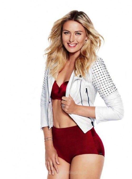 aa6d6e2a4b87f Maria Sharapova wearing #PRISMlondon Montauk bikini top and Hollywood  bikini bottom for Shape Magazine. Click link to shop.