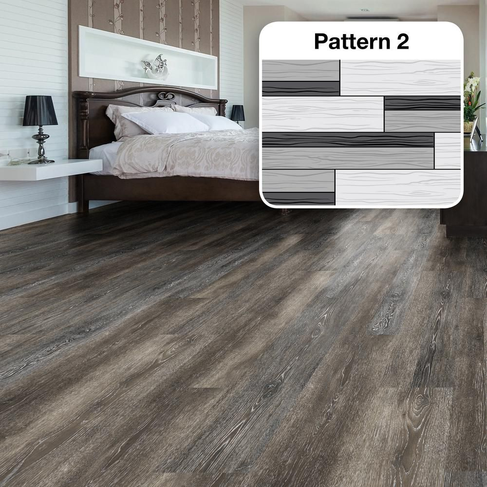 Multi width x 47 6 in dark grey oak luxury vinyl plank for Dark wood vinyl flooring