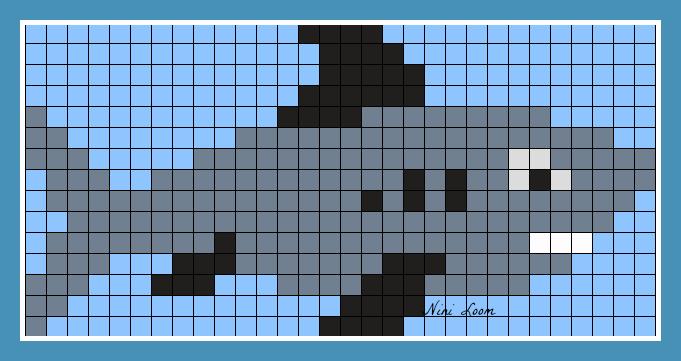 Image du blog pixel pinterest - Modele dessin requin ...