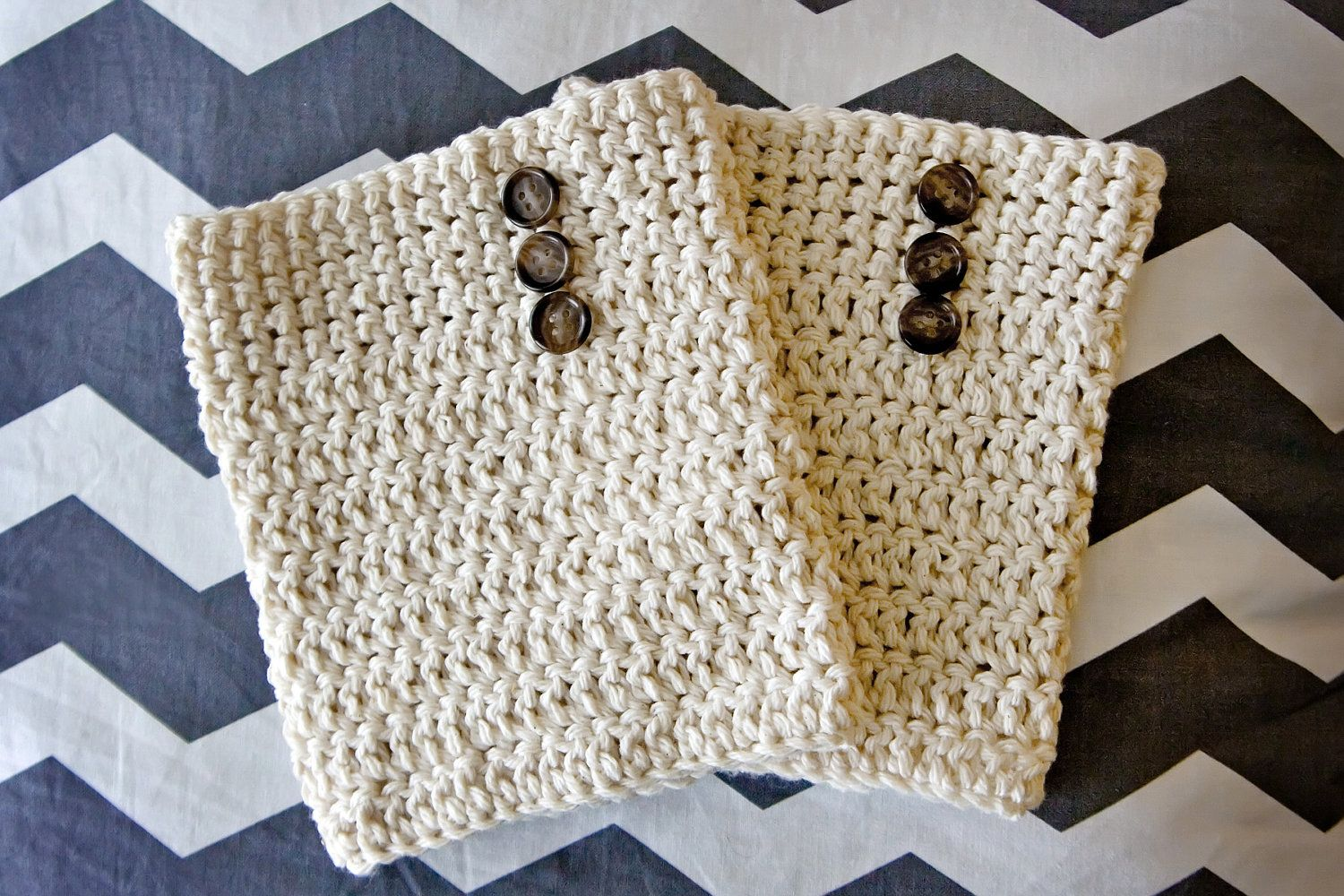 Crocheted Boot Cuffs with Buttons. $18.00, via Etsy. | crochet ...