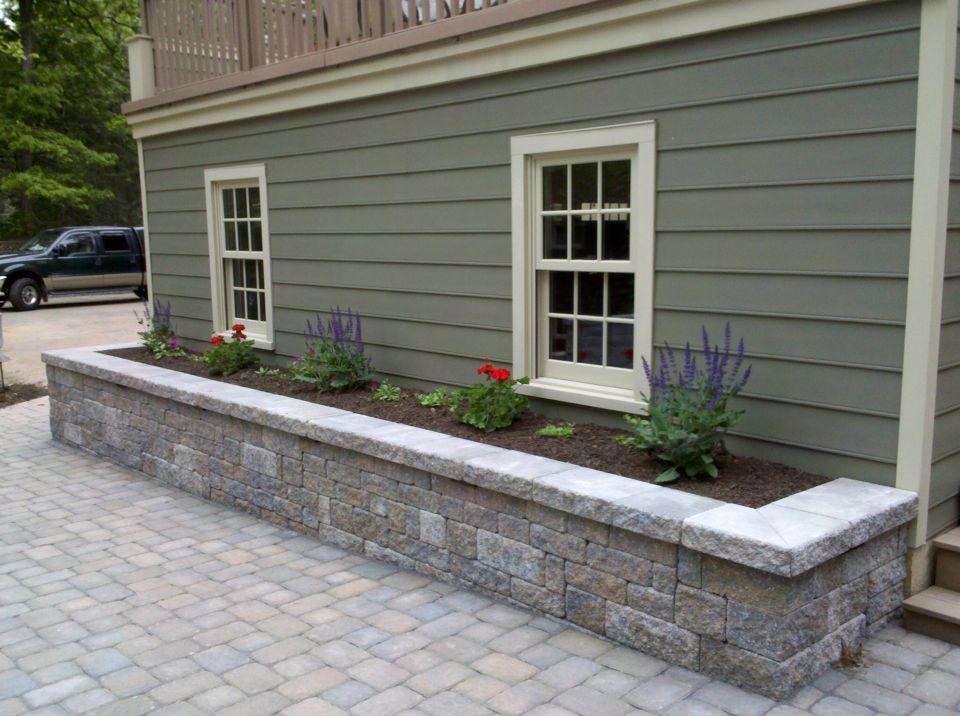 Along garage raised flowerbed Raised flower beds, House