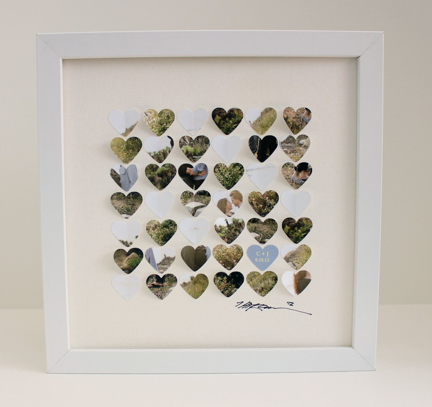 3d wedding gift photo art unique wedding anniversary gift frame personalized 3d framed hearts