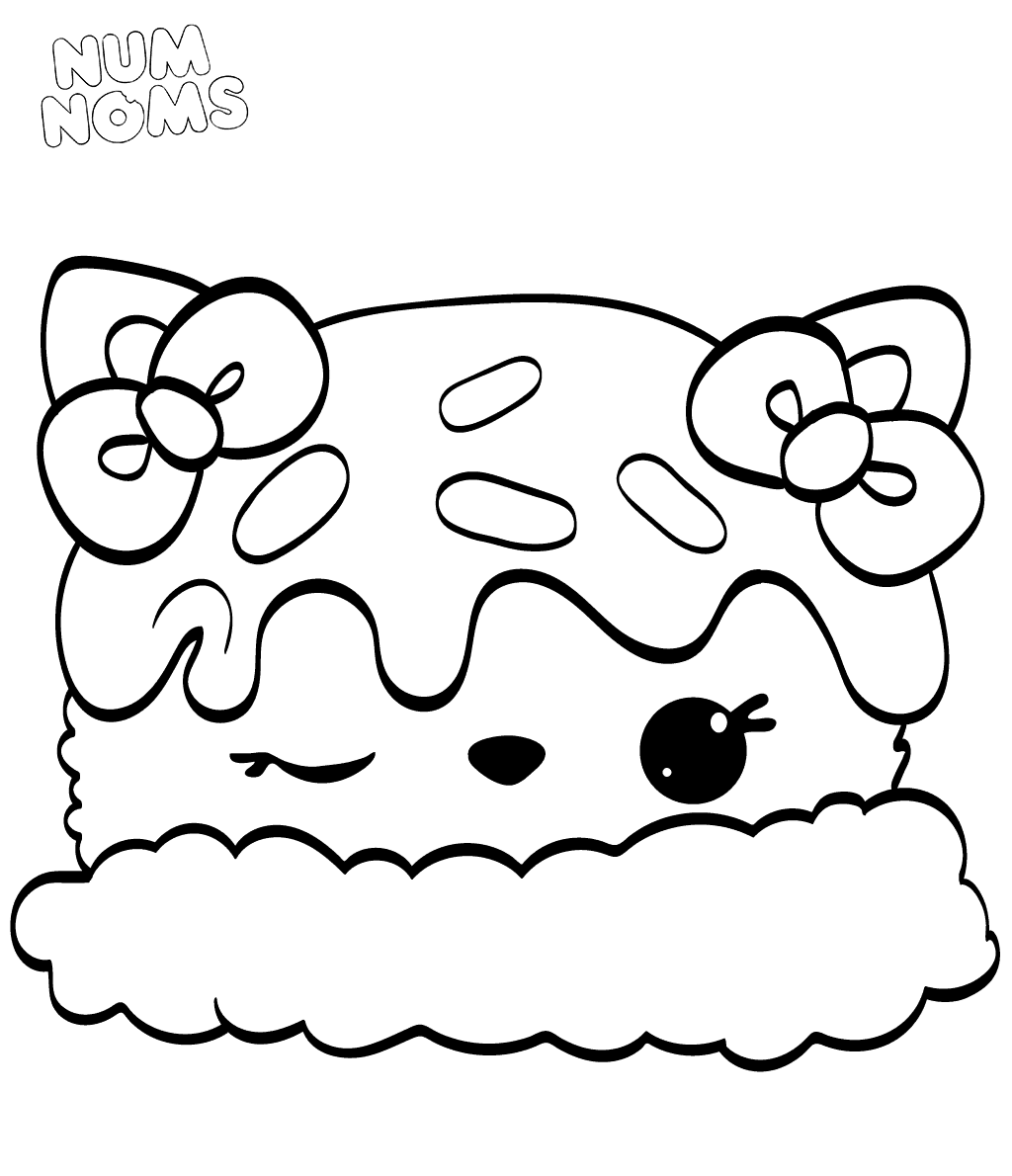 Num Noms Colouring Pages Sara Strawberry Coloring Pages Cartoon Coloring Pages Cute Coloring Pages