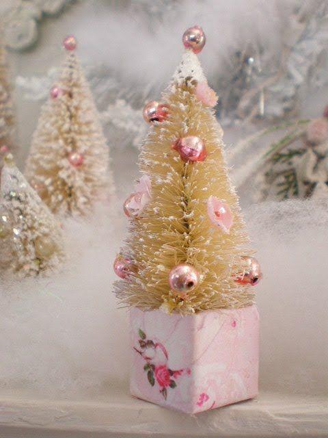 My Shabby Streamside Studio My Vintage Style Bottle Brush Christmas