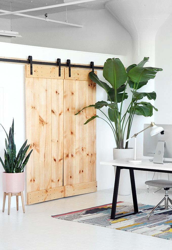 Give your space double the style and privacy with sliding barn doors
