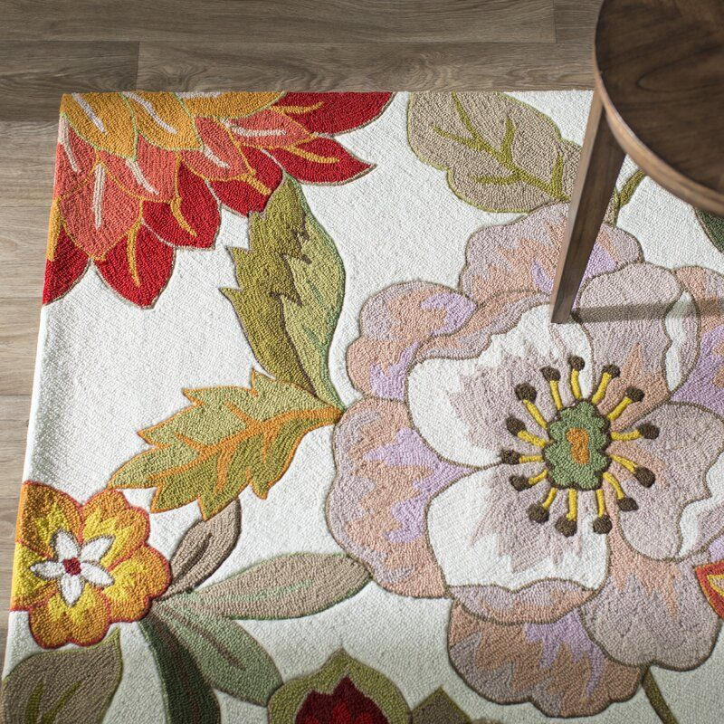 Modoc Hand Hooked Green Red Pink Ivory Rug Area Rugs Rugs Aqua Area Rug