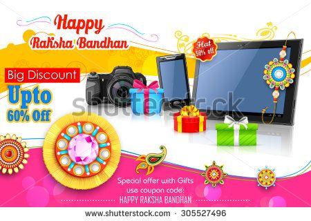 Illustration of decorative rakhi for raksha bandhan sale promotion illustration of decorative rakhi for raksha bandhan sale promotion banner fandeluxe