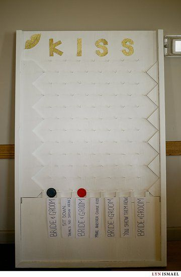 Wedding Reception Games To Make The Bride And Groom Kiss Photo