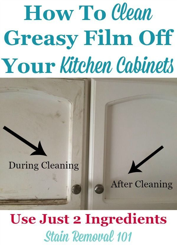 Clean Kitchen Cabinets Off With These Tips And Hints Kitchens - How to clean greasy kitchen cabinets