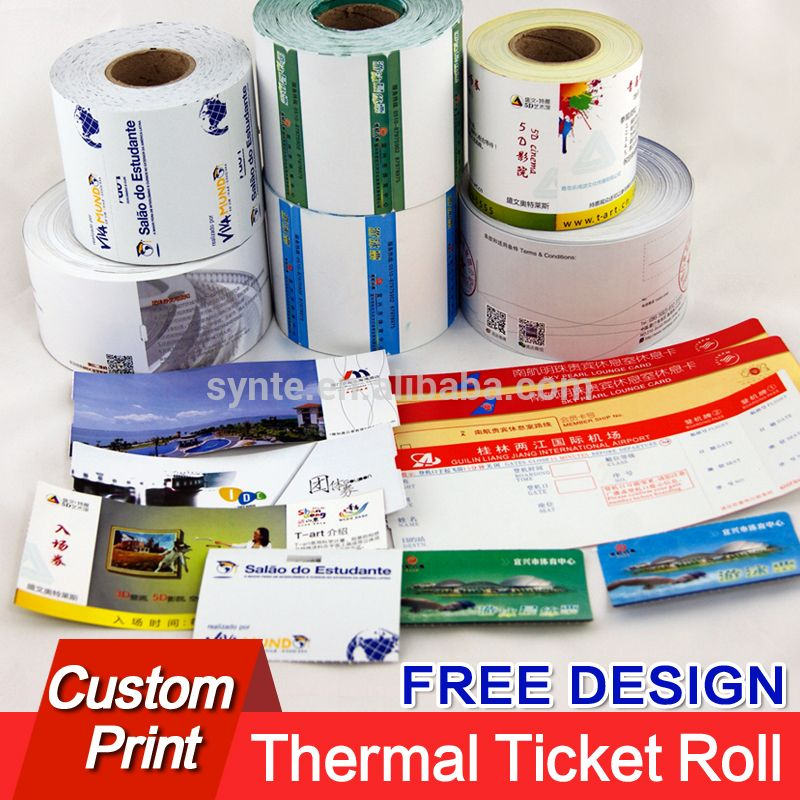 parking ticket rolls paper queue ticket card roll thermal