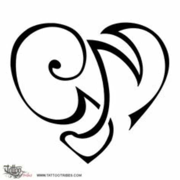 Initials G And M Tattoo Lettering Initial Tattoo G Tattoo