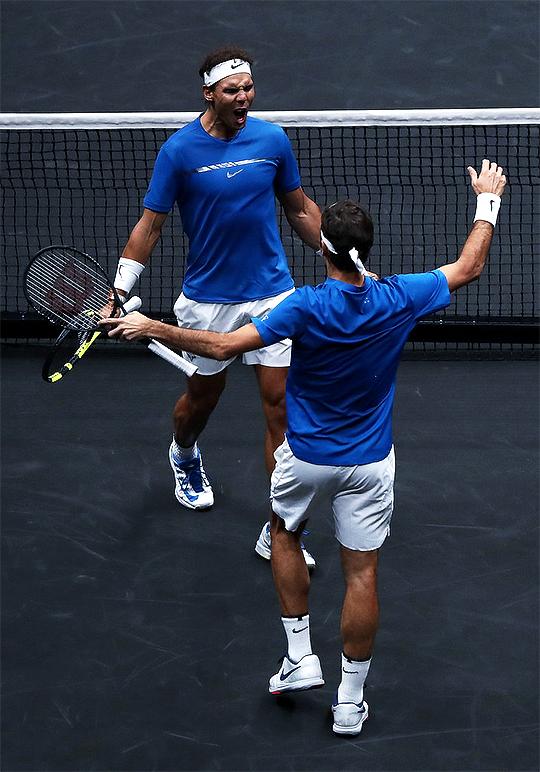 Rafael Nadal And Roger Federer Laver Cup Day Two September 24 2017 Tennis Workout Rafael Nadal Nadal Tennis