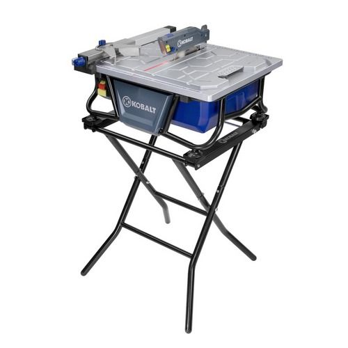 Kobalt 7 Quot Bench Tile Saw With Stand Item 325791 Model