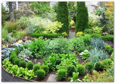circular ornamental vegetable garden   Garden layout ...