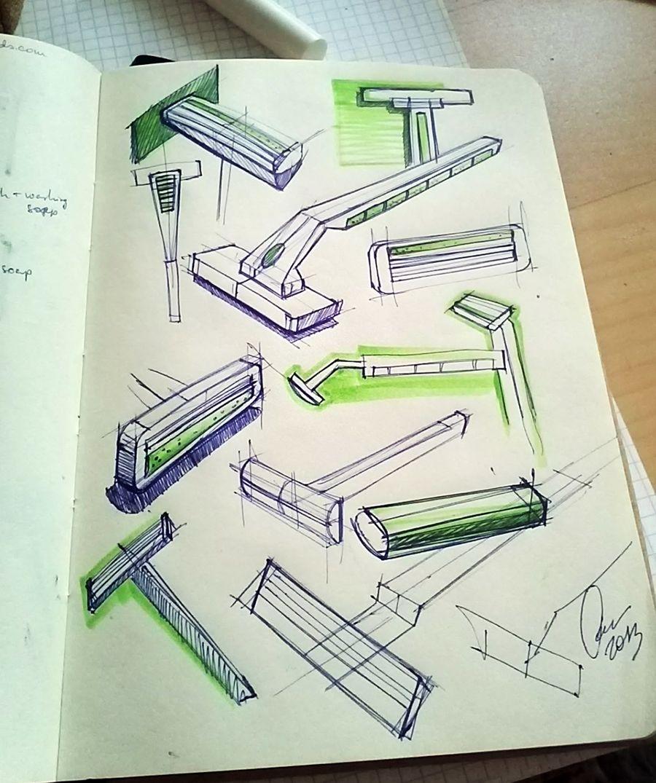 sketches, product sketch, sketchbook, razor sketch