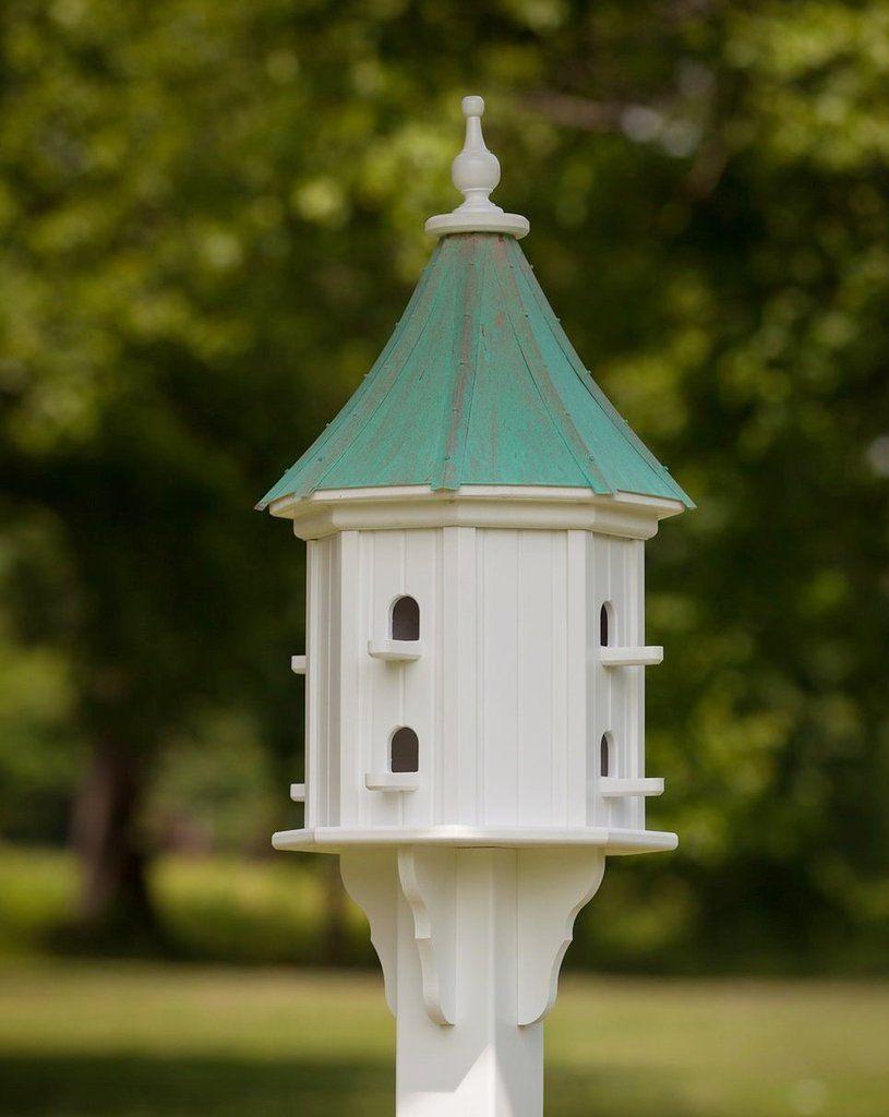 Copper Roof Dovecote Birdhouse 36x14 Slope 8 Perches Copper Roof Bird Houses Fibreglass Roof