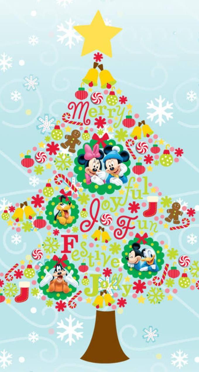 ミッキーの仲間たちのクリスマスツリーMickey Mouse Christmas Tree クリスマス イラスト