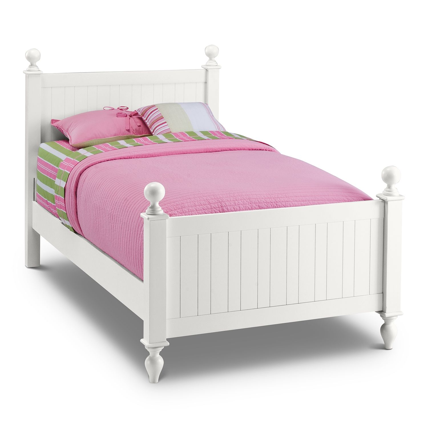 Awesome white twin bed for your kids bedroom headboards for Twin size childrens bed frames
