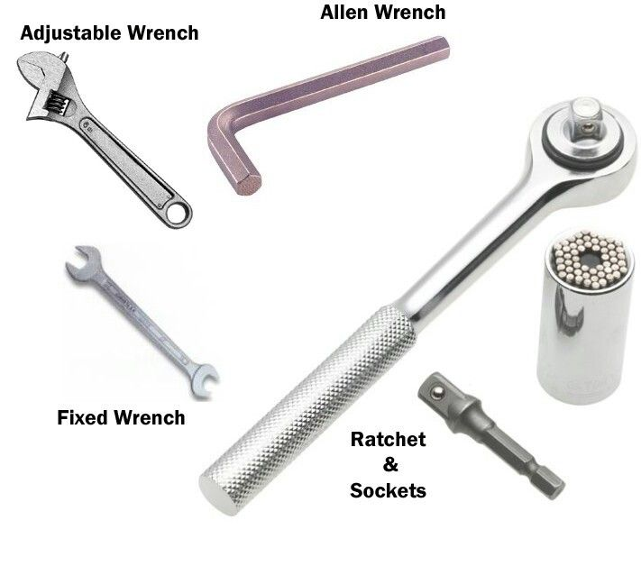types of wrenches tools pinterest