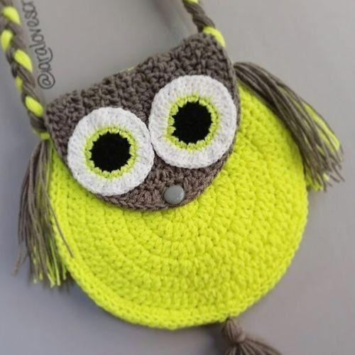 Crochet Owl Bag Loopssips Pinterest Owl Bags Crochet Owls