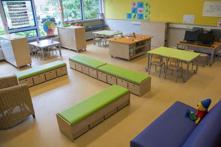 Kleur en meubels nieuwe kleuterklas pinterest for Meubilair basisschool