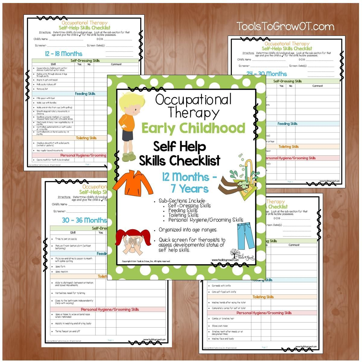 early childhood self help skills checklist quick screen for early childhood self help skills checklist quick screen for therapists to assess developmental status of