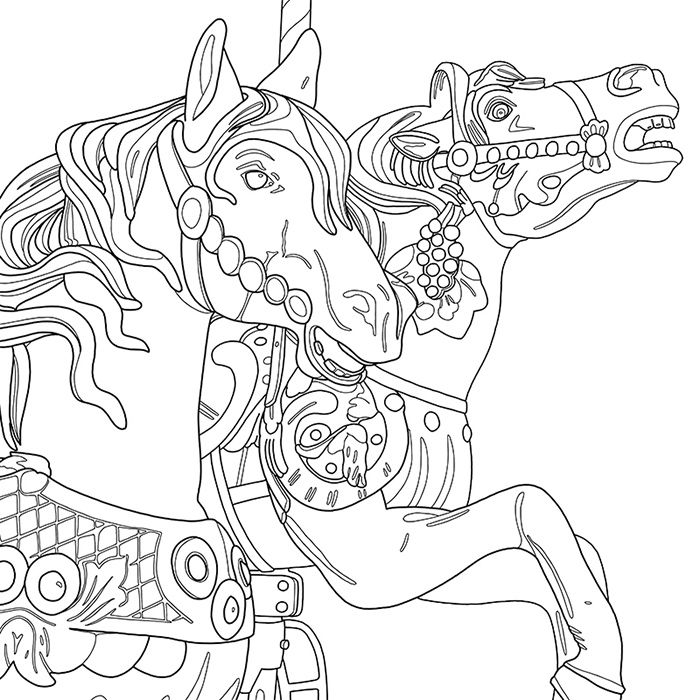 CAROUSEL: A Coloring Jones Coloring Book For Adults. Buy It On Amazon!  Featuring 20 Intricate Line Drawings By Los Angeles … Coloring Books, Coloring  Pages, Color