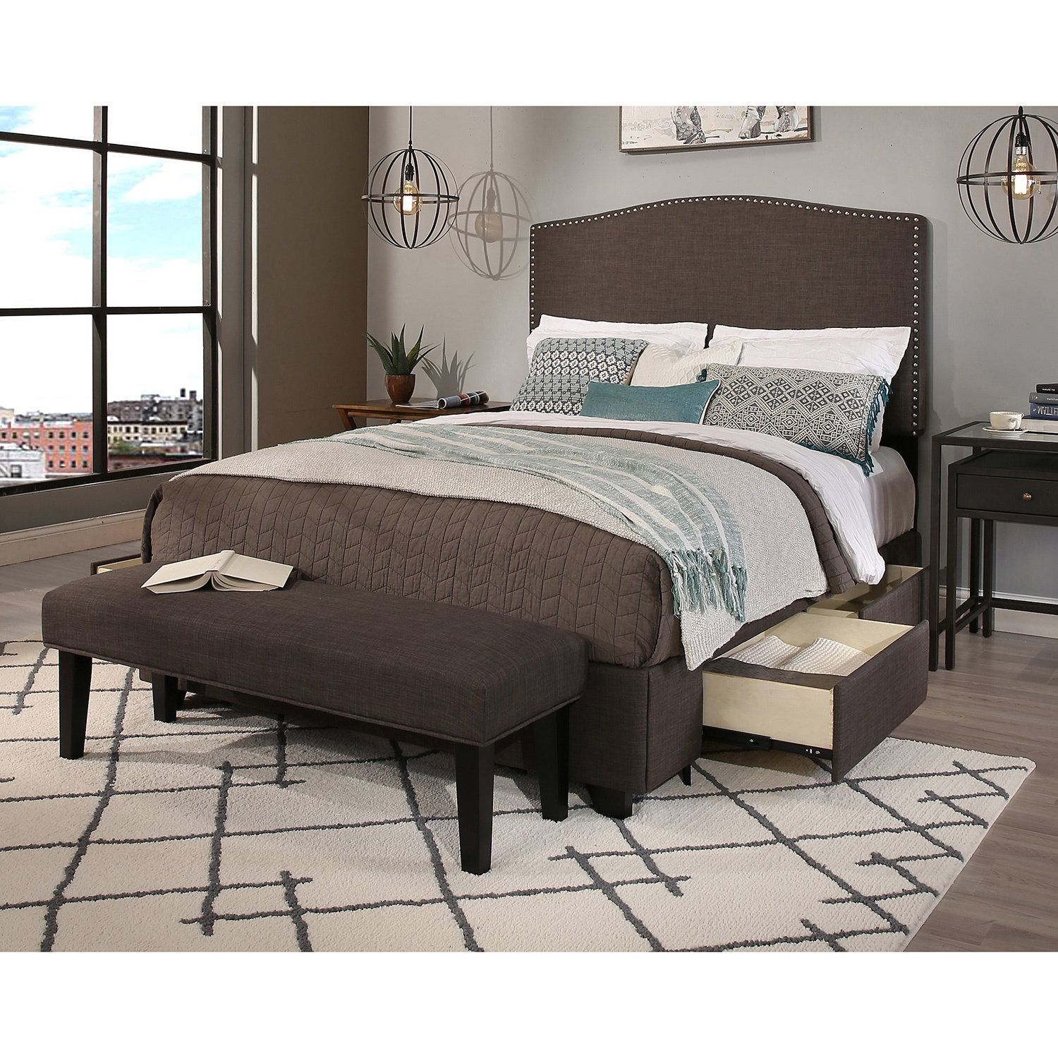 bed storage with from headboard furniture king pin belfort jansey queen